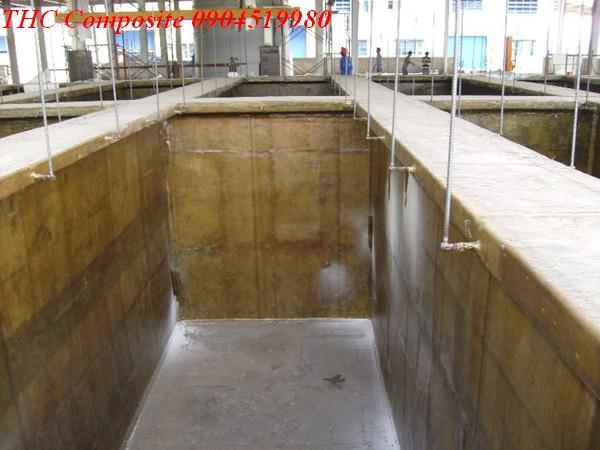 Ảnh: công trình bọc phủ composite bể hóa chất Bắc Ninh