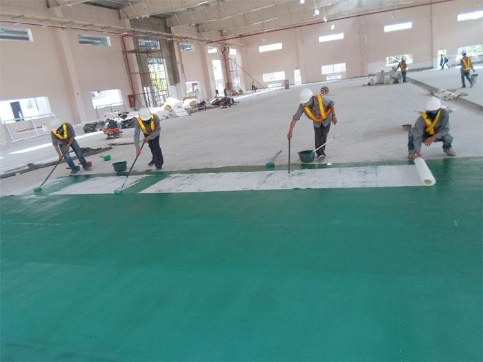 Bọc composite, bọc phủ composite sàn nhà xưởng