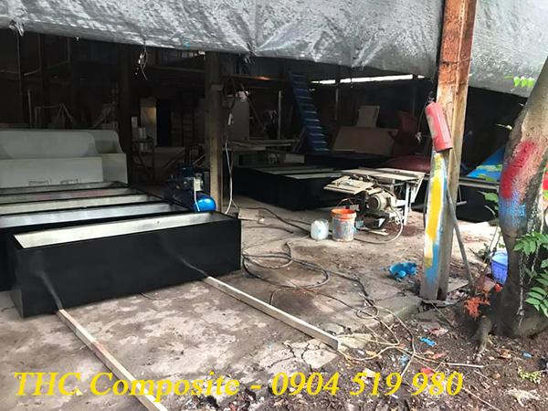 Chậu hoa composite đen bóng - THC Việt Nam