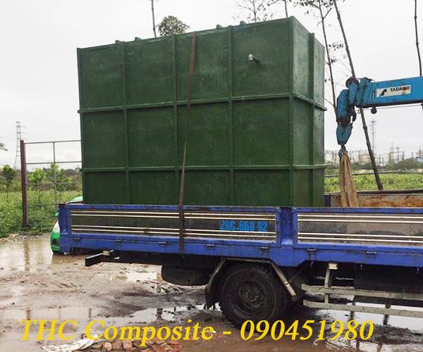 Bồn phản ứng composite đang được vận chuyển đến khách hàng