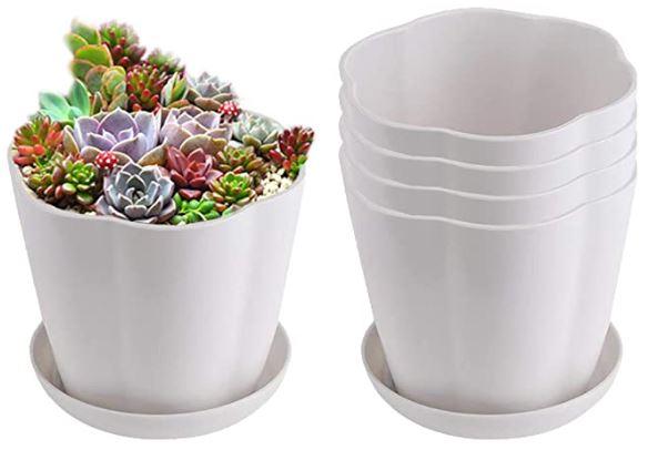 Chậu hoa mini để bàn có thêm phần đế chống tràn nước