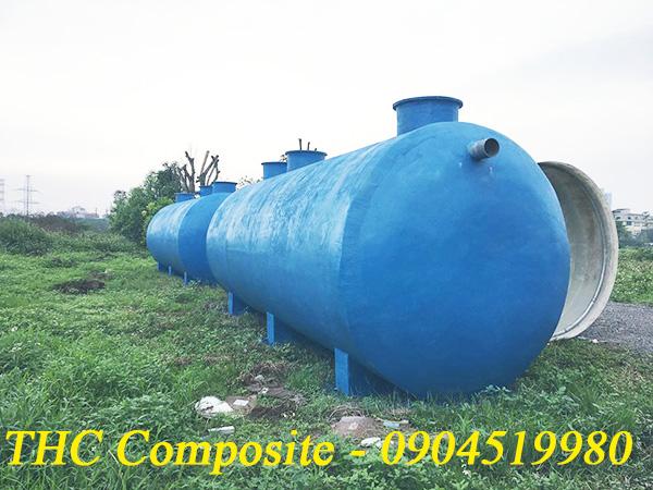 Bồn chứa nước thải được chế tạo từ vật liệu composite