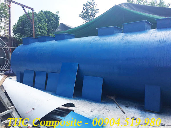 Bồn composite đang được hoàn thiện để bàn giao cho khách hàng ở KCN Vũng Áng
