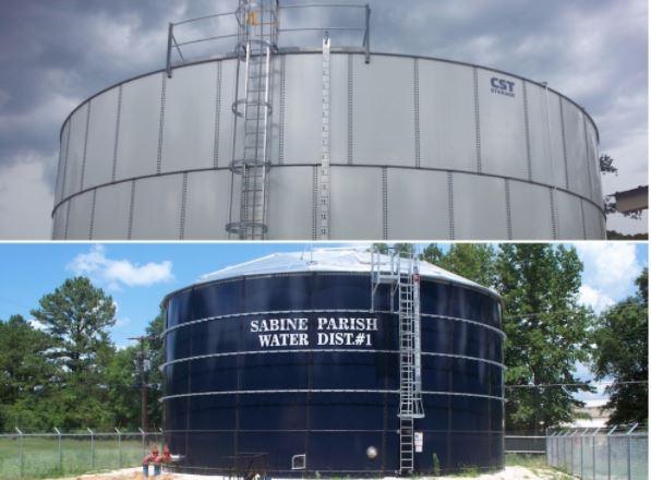 Một công trình bồn chứa nước composite vừa hoàn thành