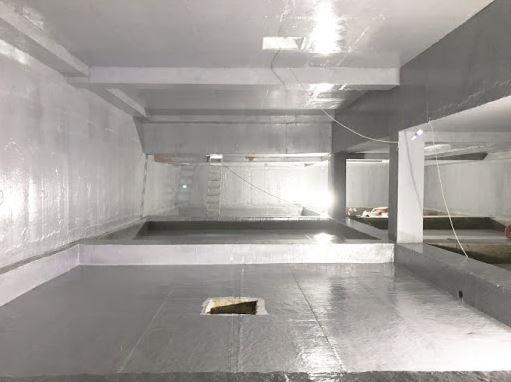 một công trình được xử lý chống thấm composite