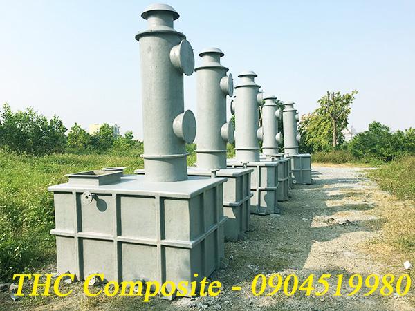 Tháp xử lí khí do THC Việt Nam sản xuất được hoàn thiện và bàn giao cho khách hàng
