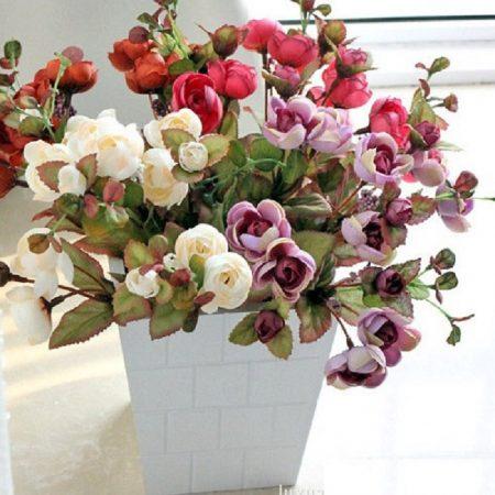 Chậu hoa giả đẹp dùng để trang trí văn phòng